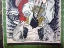 吽)山神と狼の掛軸参考品/山犬狛犬大口真神護符神道古文書