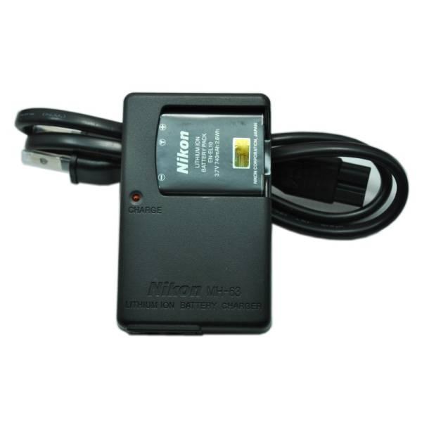 ニコン/Nikon EN-EL10 バッテリーチャージャー COOLPIX S60 S80 S200 S210 S230 S500 S510 S600 S700 S800 S3000 S5100用 充電器 MH-63