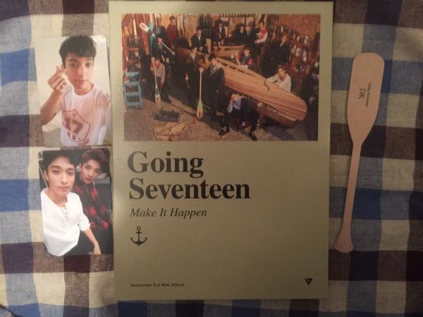 Going Seventeen CD ドギョム Make It Happen トレカ
