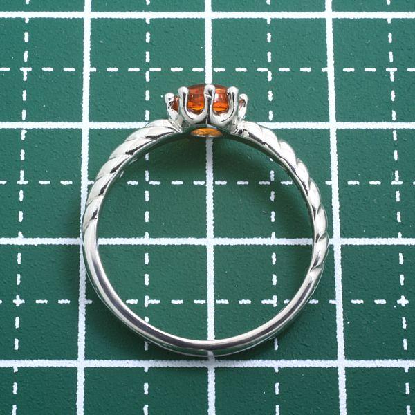 【早い者勝ち卸特価】【新品即決】PT900ファイヤーオパールリング つやつやカボションカット 12月の誕生石 ゴールド指輪 CT034_画像3