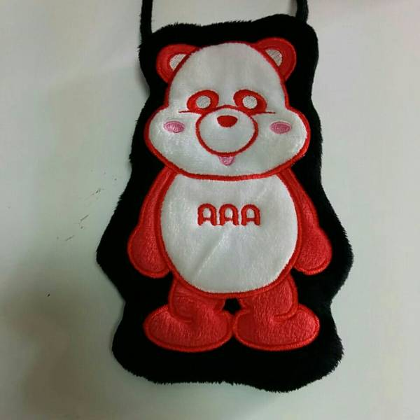 AAA え~パンダ 伊藤千晃 ぺたんこアップリケポーチ ポーチ 赤 0709
