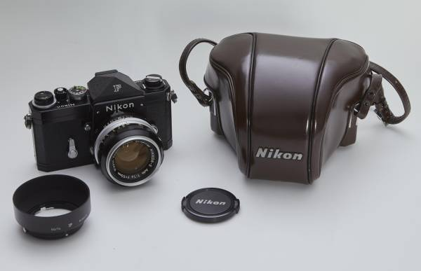 NIKON F アイレベル ブラック 50mmF1.4 純正フード ケース付き 中古美品