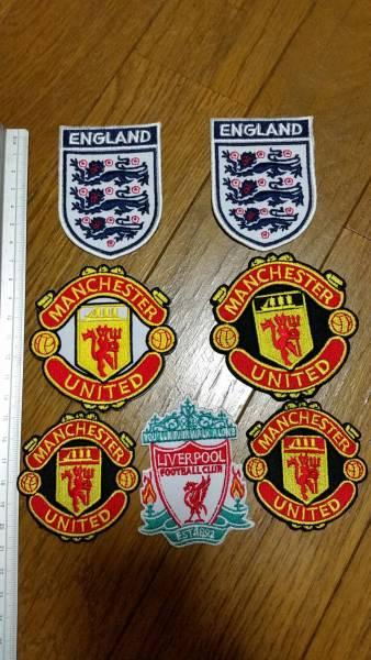 サッカー ワッペン セット イングランド マンチェスターユナイテッド リバプール アイロン 7枚 グッズの画像