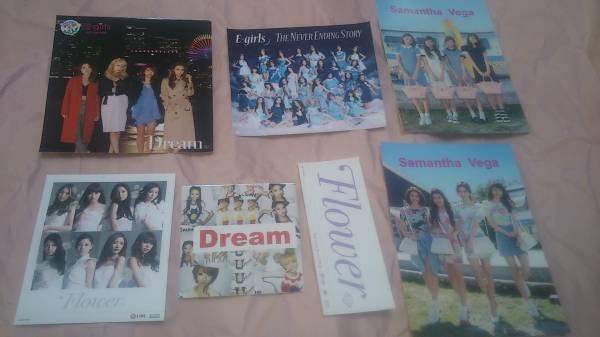 E-Girls Flower Dream ステッカー 開封済み 7枚 CD購入特典 グッズ 鷲尾伶菜 藤井萩花 藤井姉妹 Ami Shizuka Aya 佐藤晴美 楓 SAYAKA