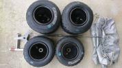 ブリヂストン レインタイヤ  レーシングカート雨用  SL94 ホイル付4本 ホイルホルダー付 カバーおまけ!