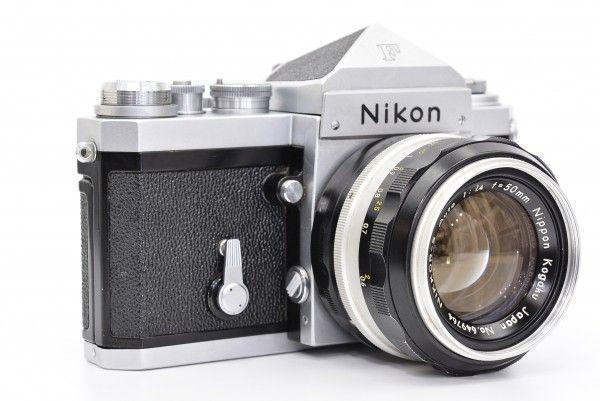 Nikon ニコン F アイレベル 中期モデル + NIKKOR-S Auto 50mm F1.4 非Ai フィルム 一眼レフ フォトミック付き 送料無料 1円オークション_画像3