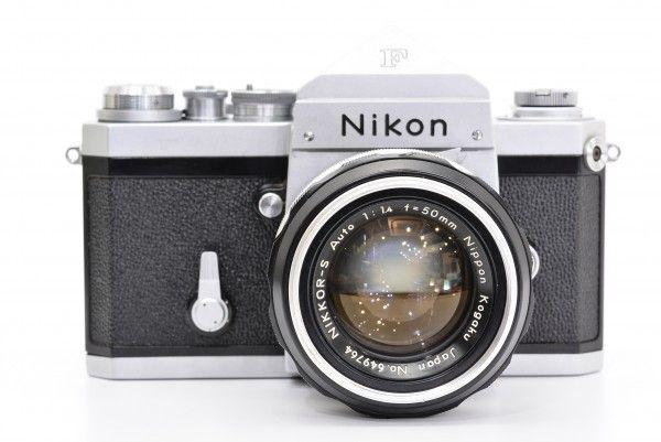 Nikon ニコン F アイレベル 中期モデル + NIKKOR-S Auto 50mm F1.4 非Ai フィルム 一眼レフ フォトミック付き 送料無料 1円オークション