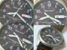 セイコー腕時計FIELD GEAR軍用時計ミリタリー24時表示曜日・日完可送360\ 防水20機も良い中古のためジャンク スクリューバック+リューズ