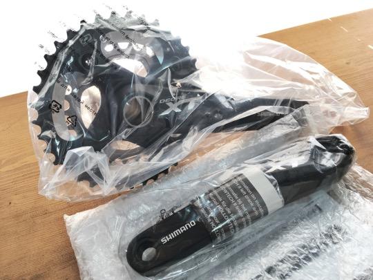 新品箱入★激安★Shimano XT M785 10速 38-26T クランク長 175mm BBなし_画像3