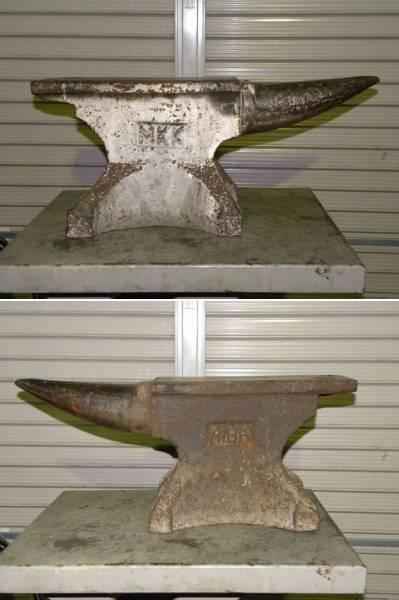 中古 アンビル 金床 角付ハンマー台 総重量86.2kg 全長65cm 高さ28cm_画像2