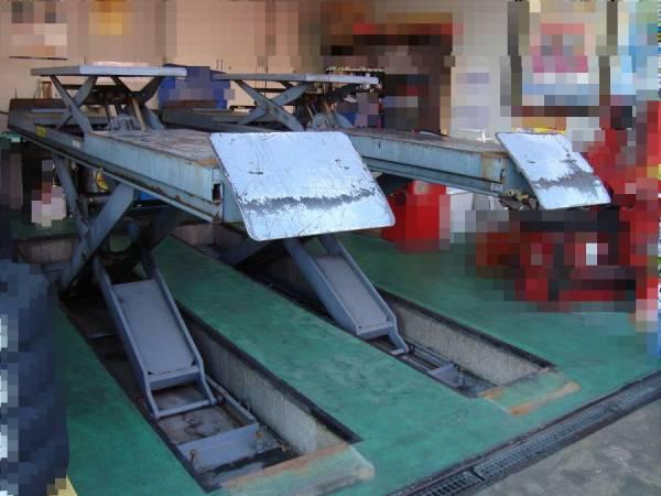 ☆中古 ワークステージX バンザイ WSX-N130 能力3t 上段リフト付き ドライブオンリフト オイル交換 タイヤ交換 自動車整備☆