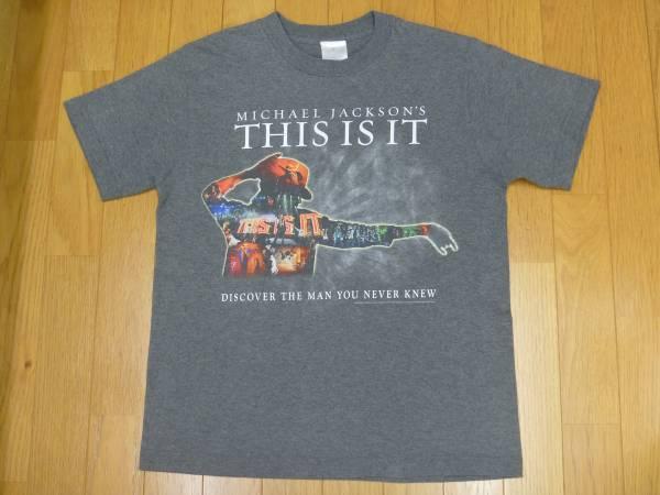 【 マイケルジャクソン 】THIS IS IT プリントTシャツ グレー S ライブグッズの画像