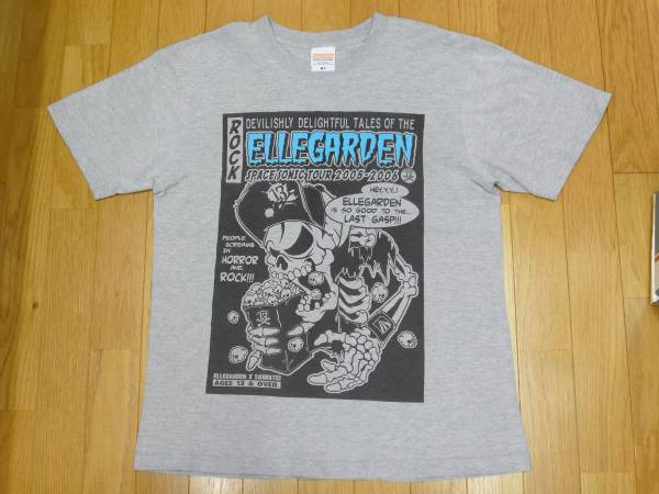 【 ELLEGARDEN 】2005-06ツアー プリントTシャツ グレー M ライブグッズの画像