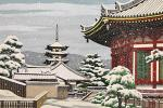 ■井堂雅夫 【興福寺冬】 木版画 サイン有り エディション有り
