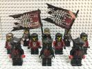 ☆ナイトキングダム☆ レゴ ミニフィグ 大量10体 兵士 騎士 ブラデック 敵 サソリ兵 鎧兜 甲冑 防具 のぼり 旗 LEGO 人形