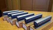 TOMIX製品、10系客車(青色)13両編成懐かしの夜行急行、LED室内灯付き【訳あり品】