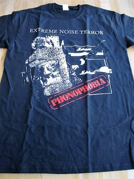 EXTREME NOISE TERROR Tシャツ phonophobia 黒M オフィシャル / ent discharge doom crust