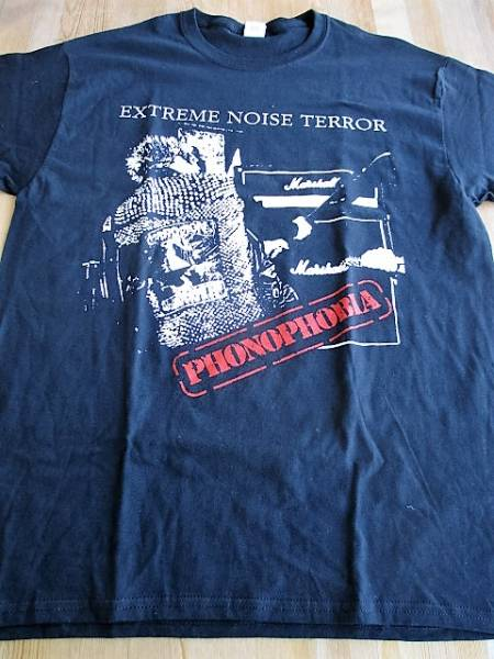 EXTREME NOISE TERROR Tシャツ phonophobia 黒L オフィシャル / ent discharge doom crust