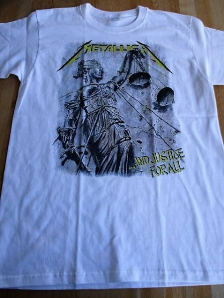 METALLICA Tシャツ and justice for all 白M / anthrax megadeth slayer iron maiden
