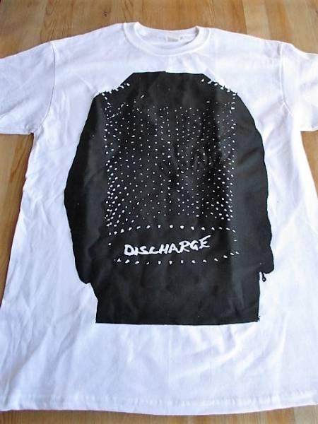 DISCHARGE Tシャツ realities of war 白M / broken bones disorder doom amebix concrete sox