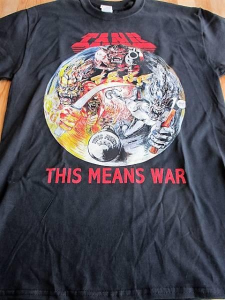 TANK Tシャツ this means war 黒M / iron maiden motorhead