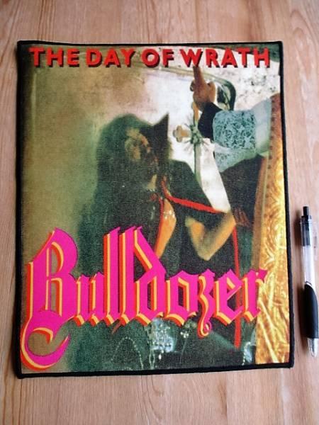 BULLDOZER プリントバックパッチ ワッペン the day of wrath / venom slayer motorhead sabbat abigail