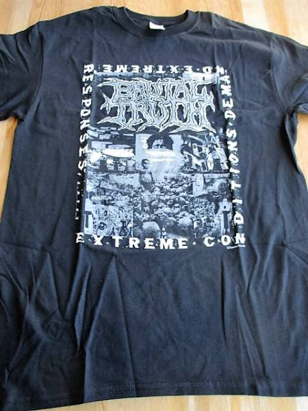 Brutal Truth Tシャツ Extreme Conditions Demand Extreme Responses 黒M オフィシャル / earache napalm death carcass