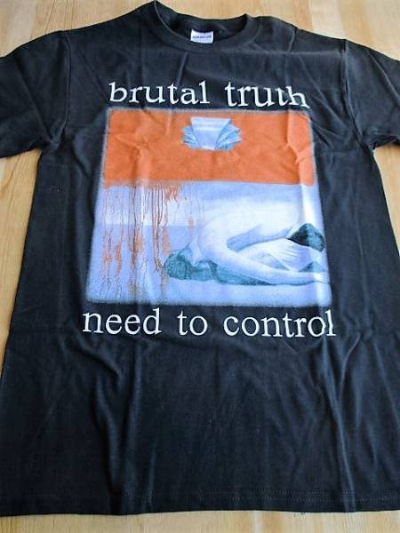 Brutal Truth Tシャツ Need To Control 黒S オフィシャル / earache napalm death carcass