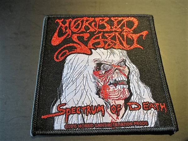 MORBID SAINT 刺繍パッチ ワッペン spectrum of death / slayer kreator sodom possessed thanatos aggression