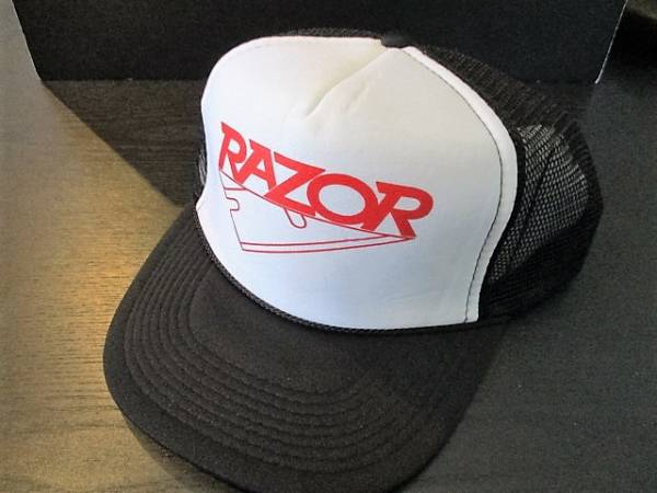 RAZOR メッシュキャップ cap 白 / metallica slayer sodom sacrifice voivod