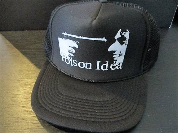POISON IDEA メッシュキャップ feel the darkness cap 黒 / black flag gang green slayer anthrax d.r.i. s.o.d.