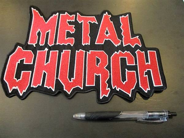 METAL CHURCH 刺繍バックパッチ ワッペン / metallica iron maiden motorhead judas priest