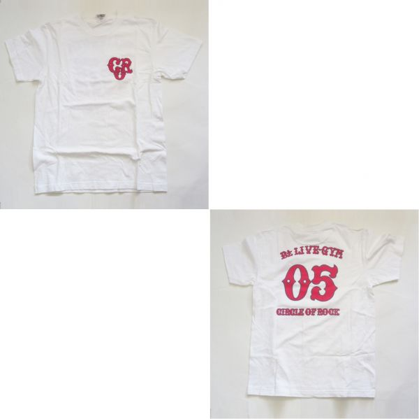 B'z 2005 -CIRCLE OF ROCK- Tシャツ(ホワイト) 稲葉浩志松本孝弘ビーズグッズ