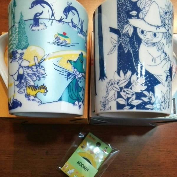 Moomin ムーミン マグカップ(夏)(スナフキン)+ファンテープ 計3個セット!YAMAKA 日本製 未使用品! グッズの画像