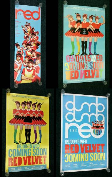 Red Velvet 【1集 - The Red/ポスター4枚セット】★3日以内到着