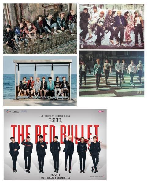 防弾少年団特典ポスター5枚セット BTS/BTS/バンタンYOU NEVER WALK ALONE/Wings/花様年華