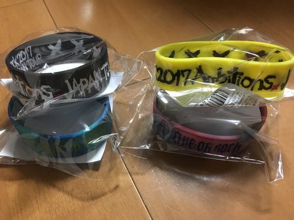 ONE OK ROCK◆Ambitions ツアー グッズ 2017◆ラバーバンド 全4種フルコンプセット 新品 ラババン◆ワンオク ワンオクロック