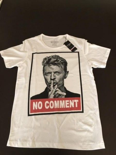 NO COMMENT PARIS ノーコメントパリ Tシャツ デビッドボウイ S サイズ 裾裁断ミス有り 早い者勝ちです。