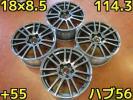 PW182♪1円スタート!売切り!ホイールのみ!4本販売♪スバル インプレッサ純正 WRX STi タイプC GVB/GRB♪PCD114.3・18×8.5・+55♪