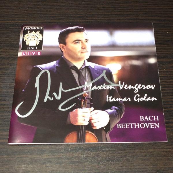 マキシム・ヴェンゲーロフ Maxim Vengerov 直筆サイン入りCD 輸入盤