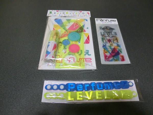 Perfume 4th Tour in DOME LEVEL3  グッズ 「バングル」 「ステッカー」「キッズセット」 3点(新品未開封品)