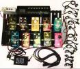 Bearcat ギター エフェクター10点 エフェクター用電源アダプター13本 AC-DCアダプター24Vなど まとめて 専用ケース付き kh05-p6