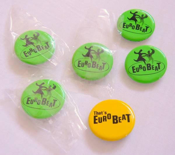 ◆That's Euro Beat◆非売品缶バッジ6個セット◆ザッツ・ユーロ・ビート◆