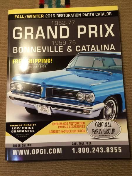 Pontiac Grand Prix Bonneville katalina parts list : Real Yahoo