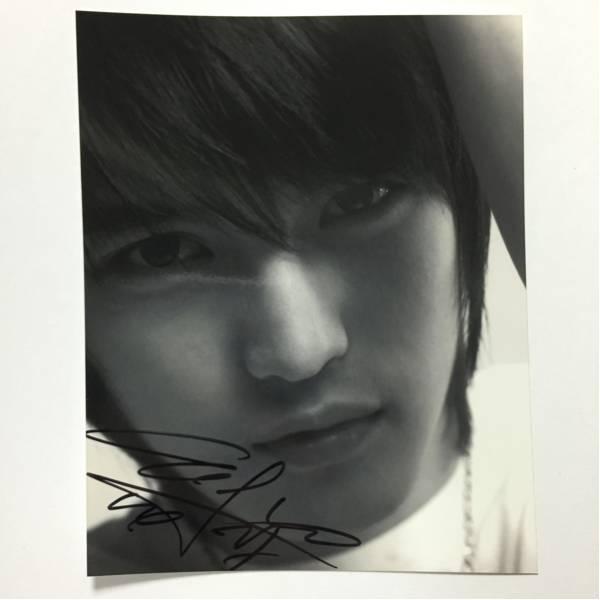 韓国★東方神起 JYJ ジェジュン 直筆サイン入り公式生写真 w ライブグッズの画像