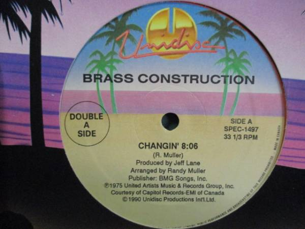 Brass Construction : Changin' c/w Sunshine Band - Blackwater Gold // 5点で送料無料 12''_画像1