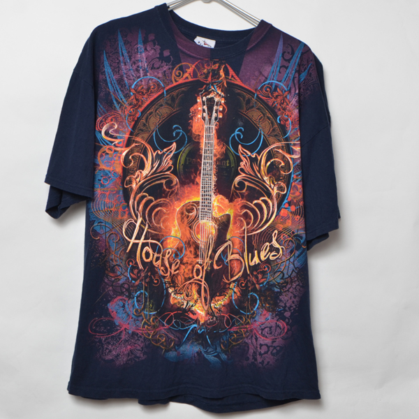 GS5022 HOUSE OF BLUE Tシャツ L 肩60 ギター メール xq