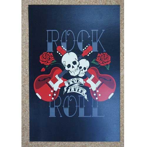 新品★インテリア雑貨★【ポスター】Rock'n'Roll/ロックンロール Forever