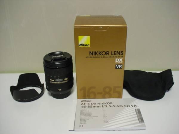 極美品 ニコン Nikon AF-S DX 16-85mm f3.5-5.6G ED VR 化粧箱付