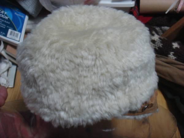1702カシラCA4LAツバ皮革レザー フェイクファーCAPキャスケット帽子キャップ パイル_画像2